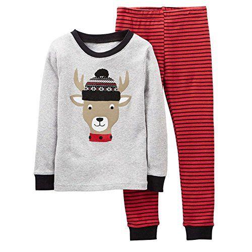 bffecddc1 Carters Baby Boys Christmas 2Piece Snug Fit Cotton Pajamas SetBaby ...