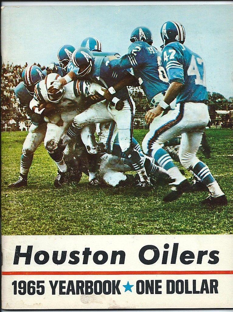 1965 Houston Oilers AFL yearbook. Houston oilers, Oilers