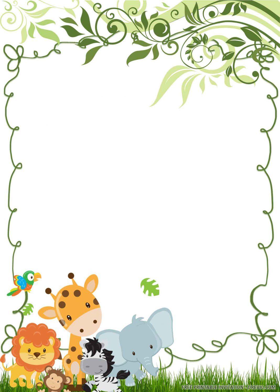 Free Printable Wild One Birthday Invitation Templates Wild One Birthday Invitations Animal Birthday Invitation First Birthday Invitations