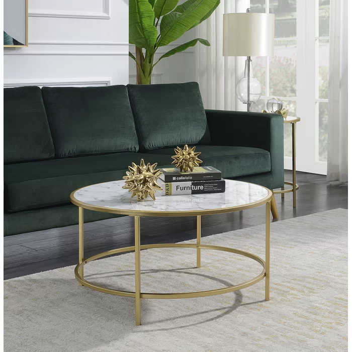 Essex 2 Piece Coffee Table Set In 2020 Marble Living Room Table Coffee Table Marble Round Coffee Table