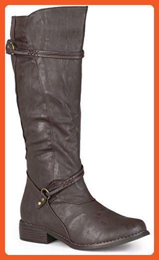 d2c2834a26fa Journee Collection Womens Regular Sized and Wide-Calf Ankle-Strap Buckle  Knee-High