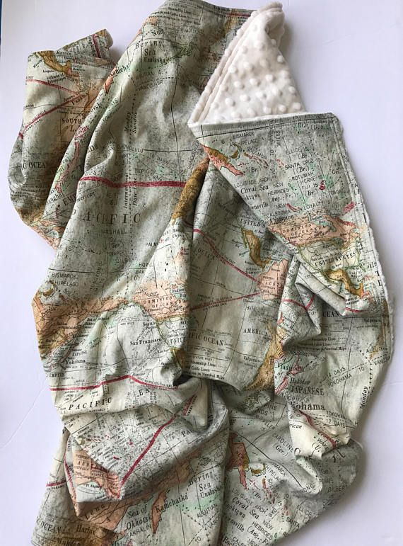 A world map print with an aged vintage map look the print on this a world map print with an aged vintage map look the print on this fabric is the perfect accessory for an adventure or travel themed nursery the p gumiabroncs Gallery