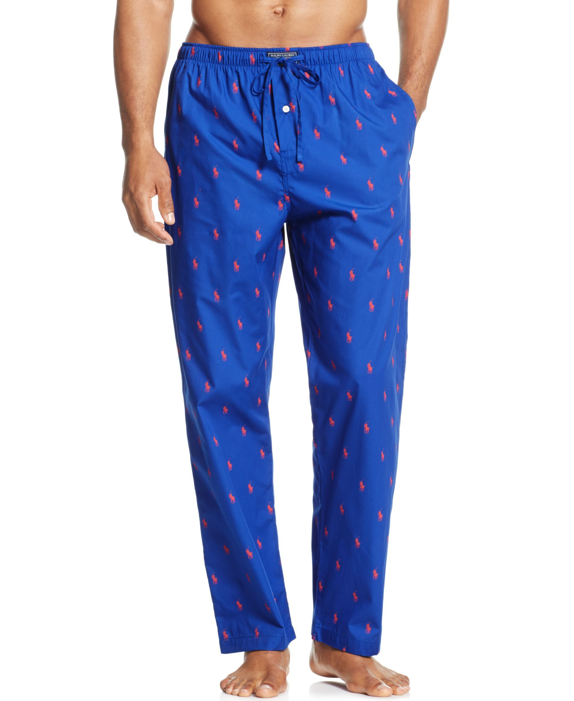1fea1c056e Polo Ralph Lauren Drawstring Pony-Print Pajama Pants | Products ...