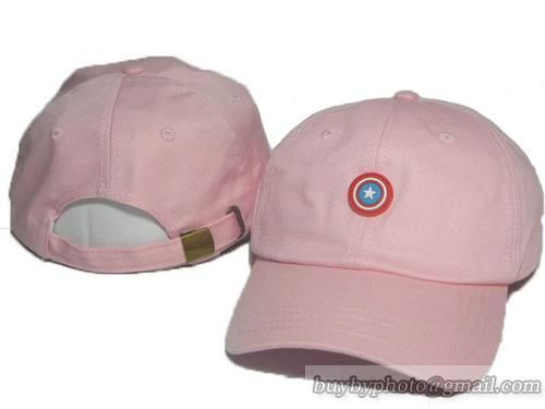 08dfdcc1ea4 Marvel Movies Captain America Curved Brim Baseball Hats Pink