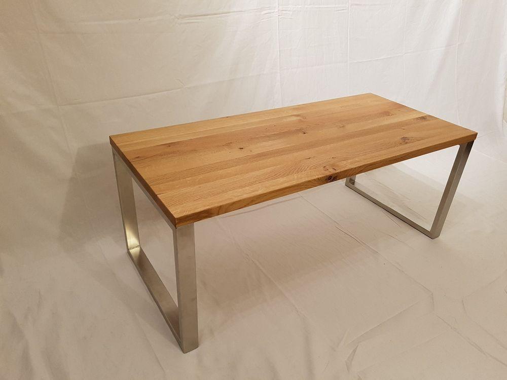 Design Couchtisch Beistelltisch Eiche Echtholz Edelstahl Made In Germany Mit Bildern Beistelltisch Eiche Couchtisch Tisch
