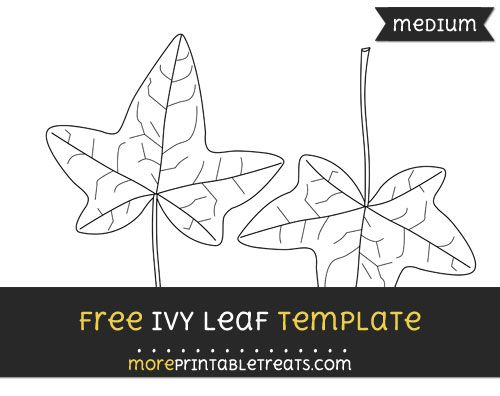 Free Ivy Leaf Template