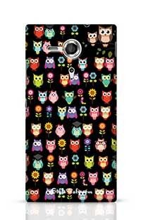 Owl With Black Background Sony Xperia SP Phone Case