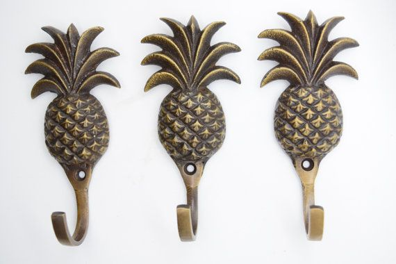 Pineapple coat hooks Brass wall hooks decorative hooks Bathroom