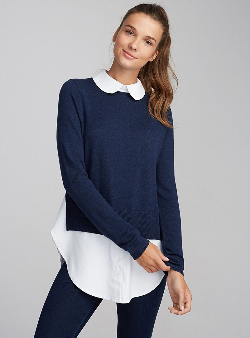 Peter Pan Collar And Built In Shirt Edging For The Perfect Layered