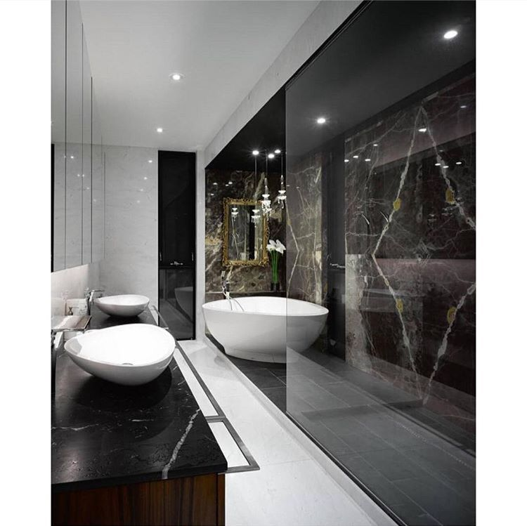 Black  white bathroom B a t h ❁ Pinterest Black white bathrooms