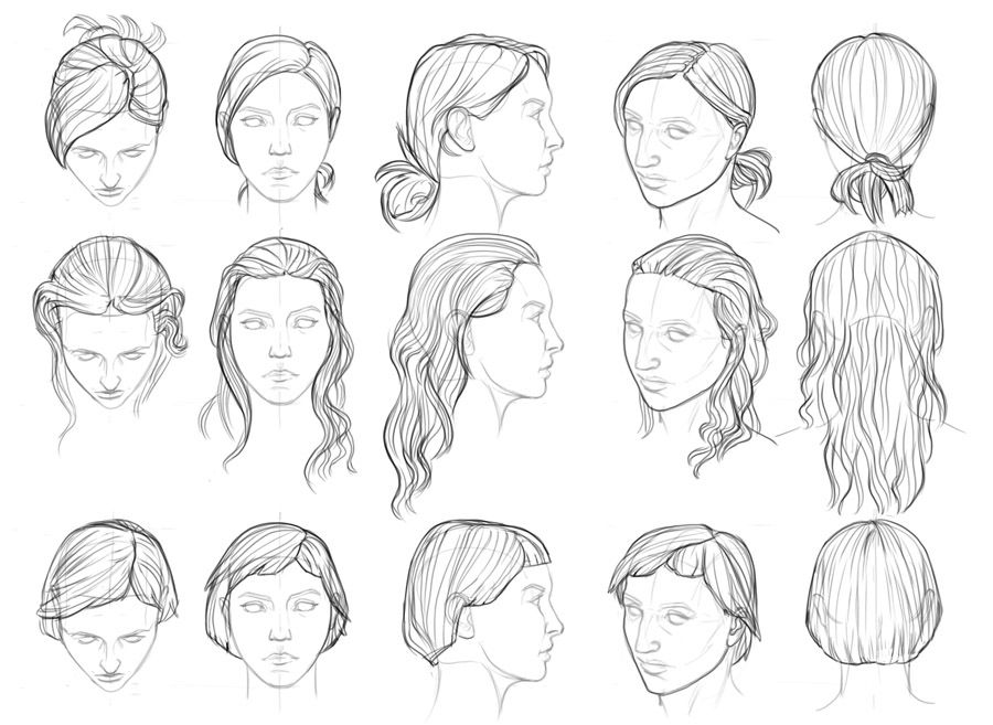 Godtricksterloki Hair Style References By Face Drawing Reference Female Face Drawing Drawing Reference