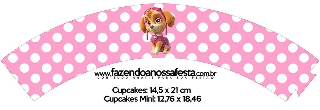 Saias Wrappers para Cupcakes 2 Patrulha Canina para Meninas