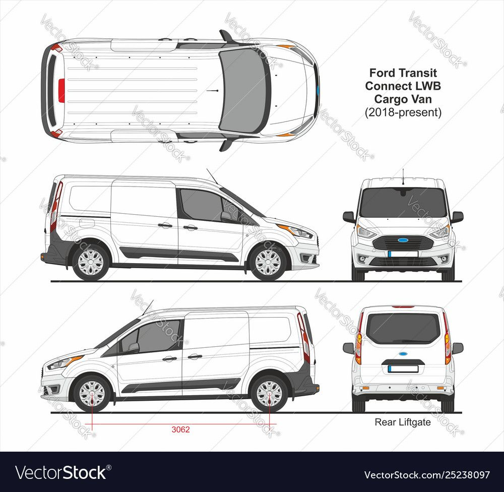 Ford Transit Connect Lwb Cargo Van Dual Sliding Side Doors Rear