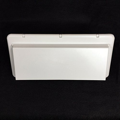 New Polar White Rv Camper Travel Trailer Range Hood Exterior Outside Vent Cover W Damper