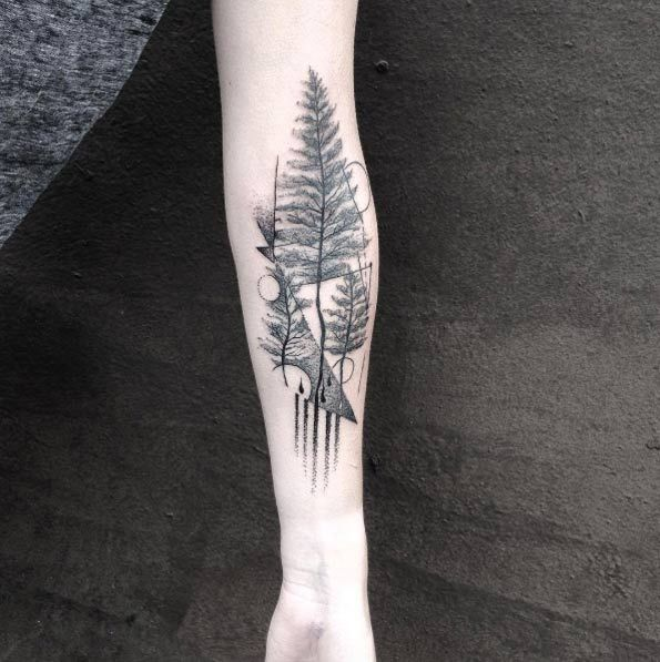 Abstract Tree Tattoo By Martynas A Nioka Nature Tattoos Tree