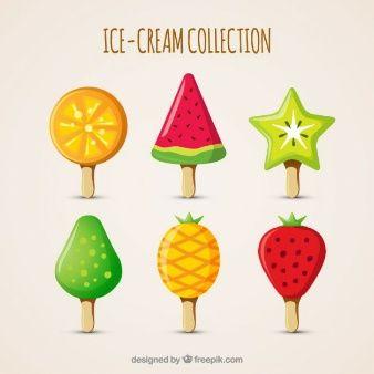 Deliciosos helados con diferentes formas