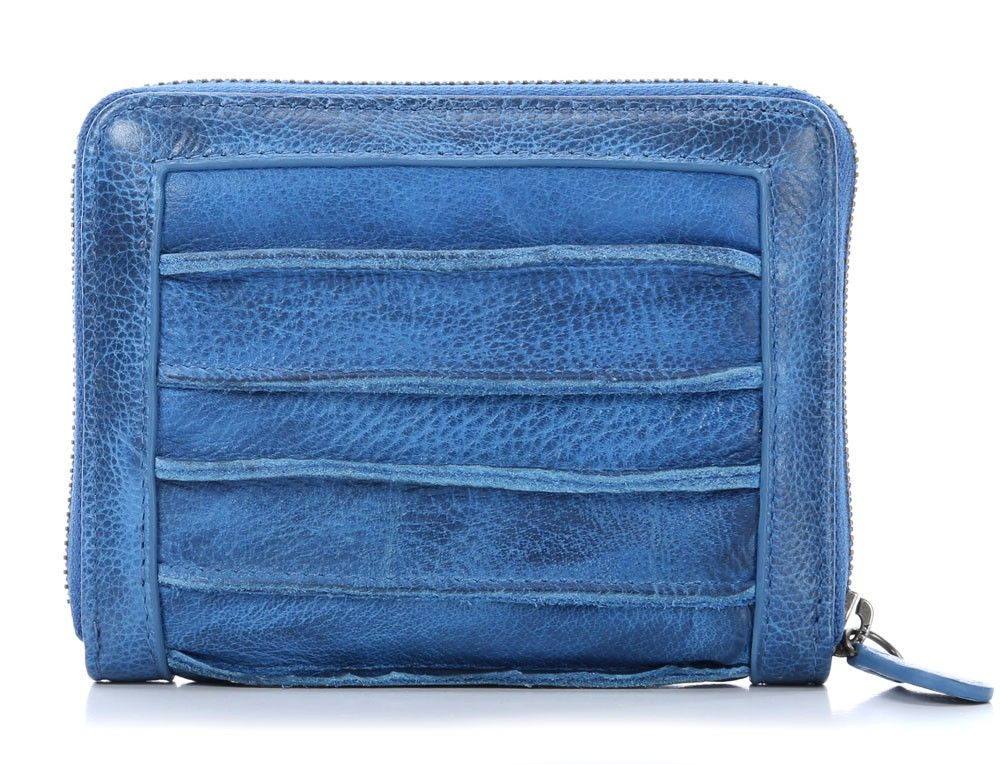 wardow.com - #FredsBruder, Riffeltier Small Geldbörse Damen Leder blau 13 cm