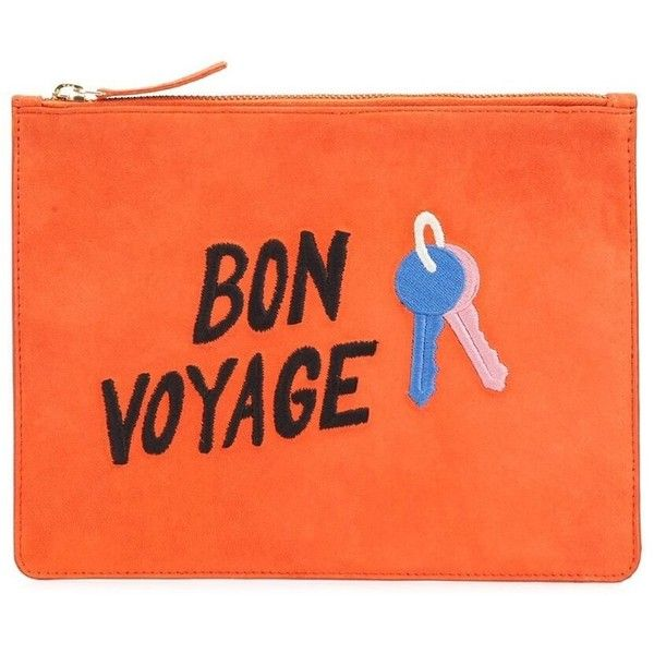 Lizzie Fortunato Bon Voyage Clutch ($160) ❤ liked on Polyvore featuring bags, handbags, clutches, kirna zabete, kzloves, march must haves, lizzie fortunato, orange purse, orange handbags and orange clutches