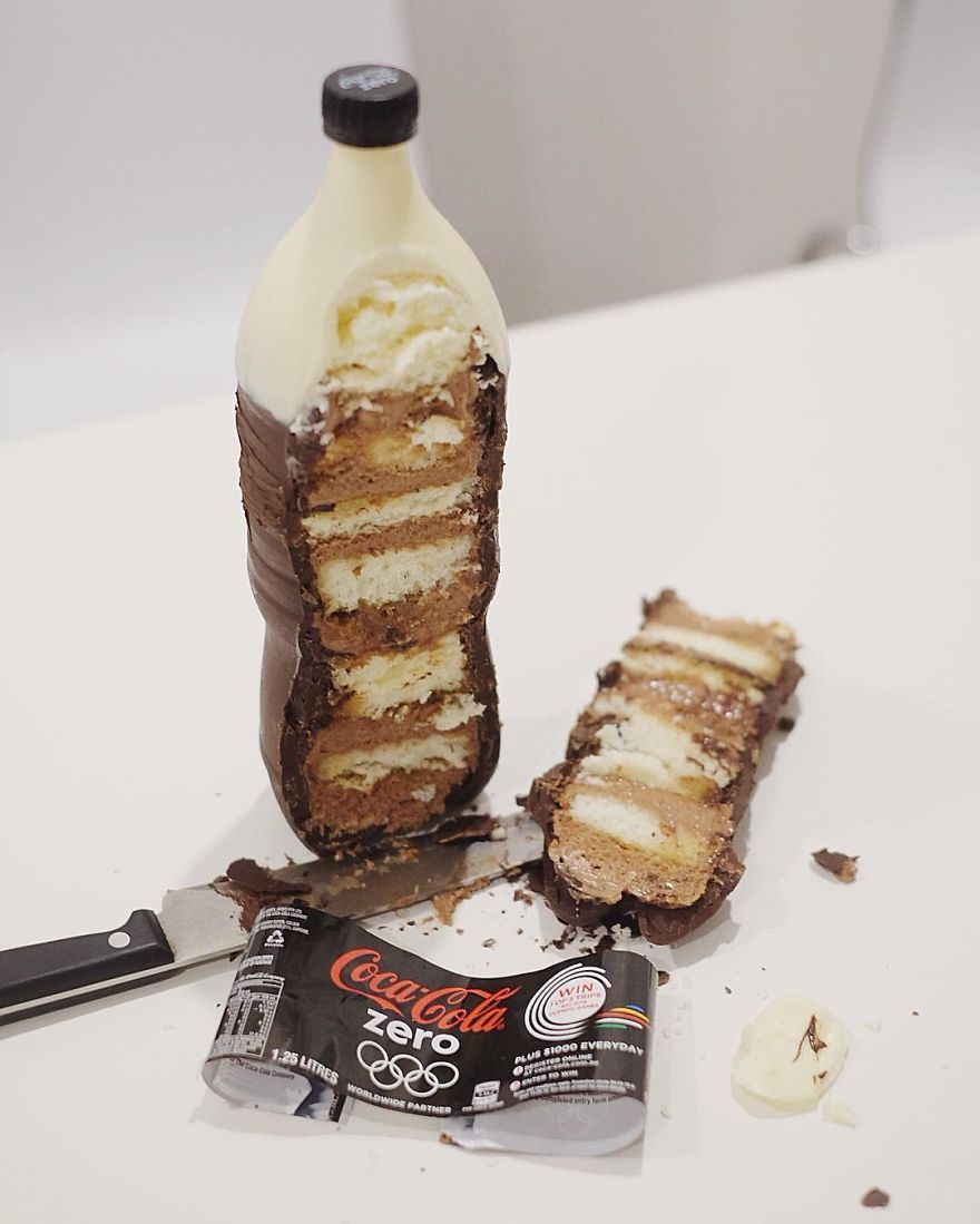Edible Soda Cakes Look Too Realistic To Eat Soda Cake Food Realistic Cakes