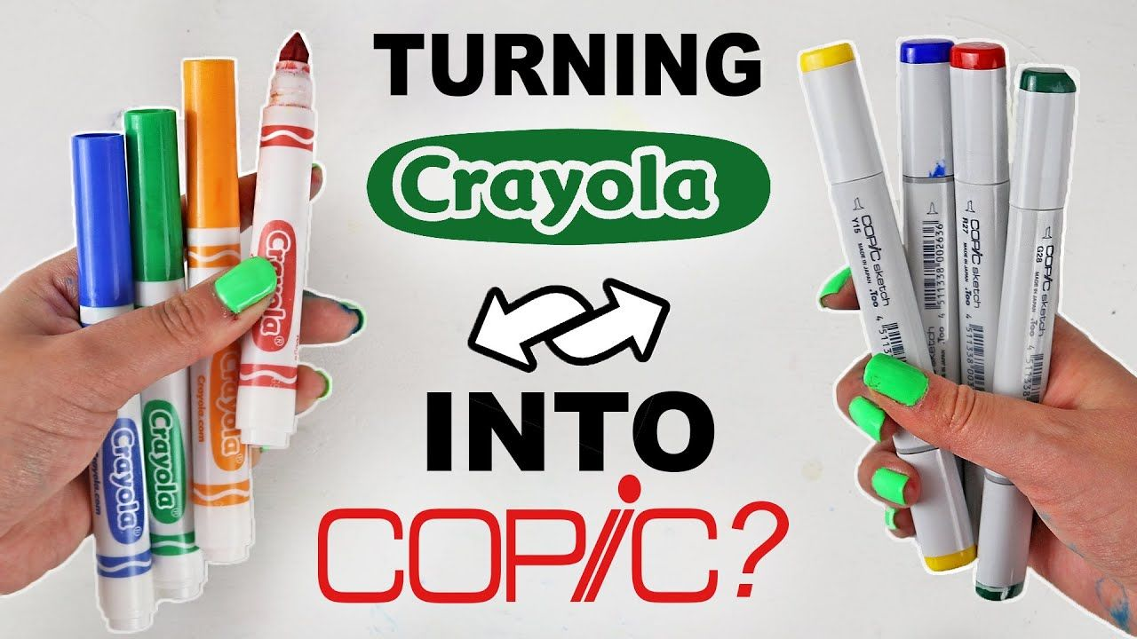 Can I Convert Cheap Crayola Markers Into Pricey Copics Art