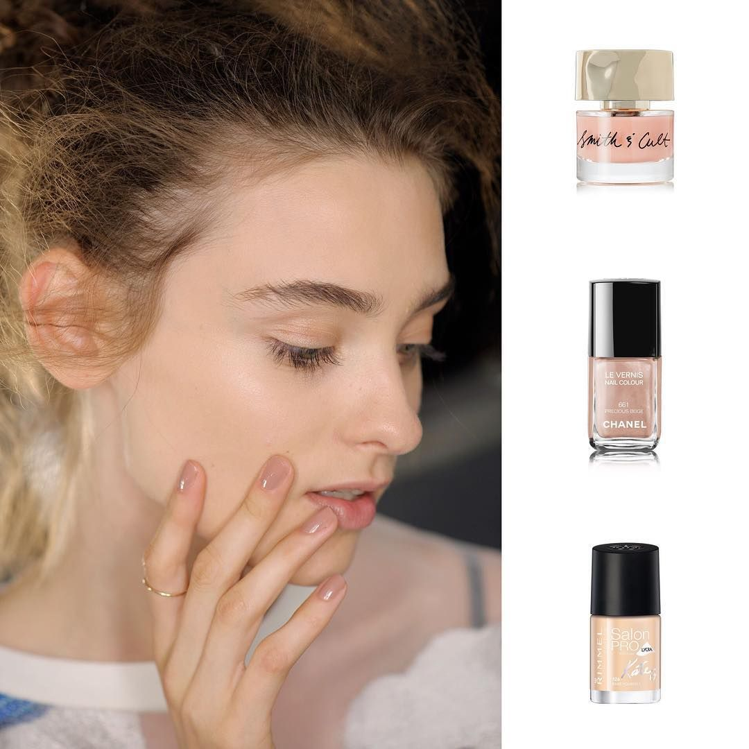 Piercing above lip to the side  Springsummer us shows saw nude polish take pole position