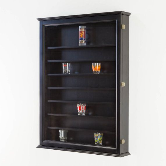 We Are Loving This Black Matte Shot Gl Display Cabinet A Sleek Design For Any