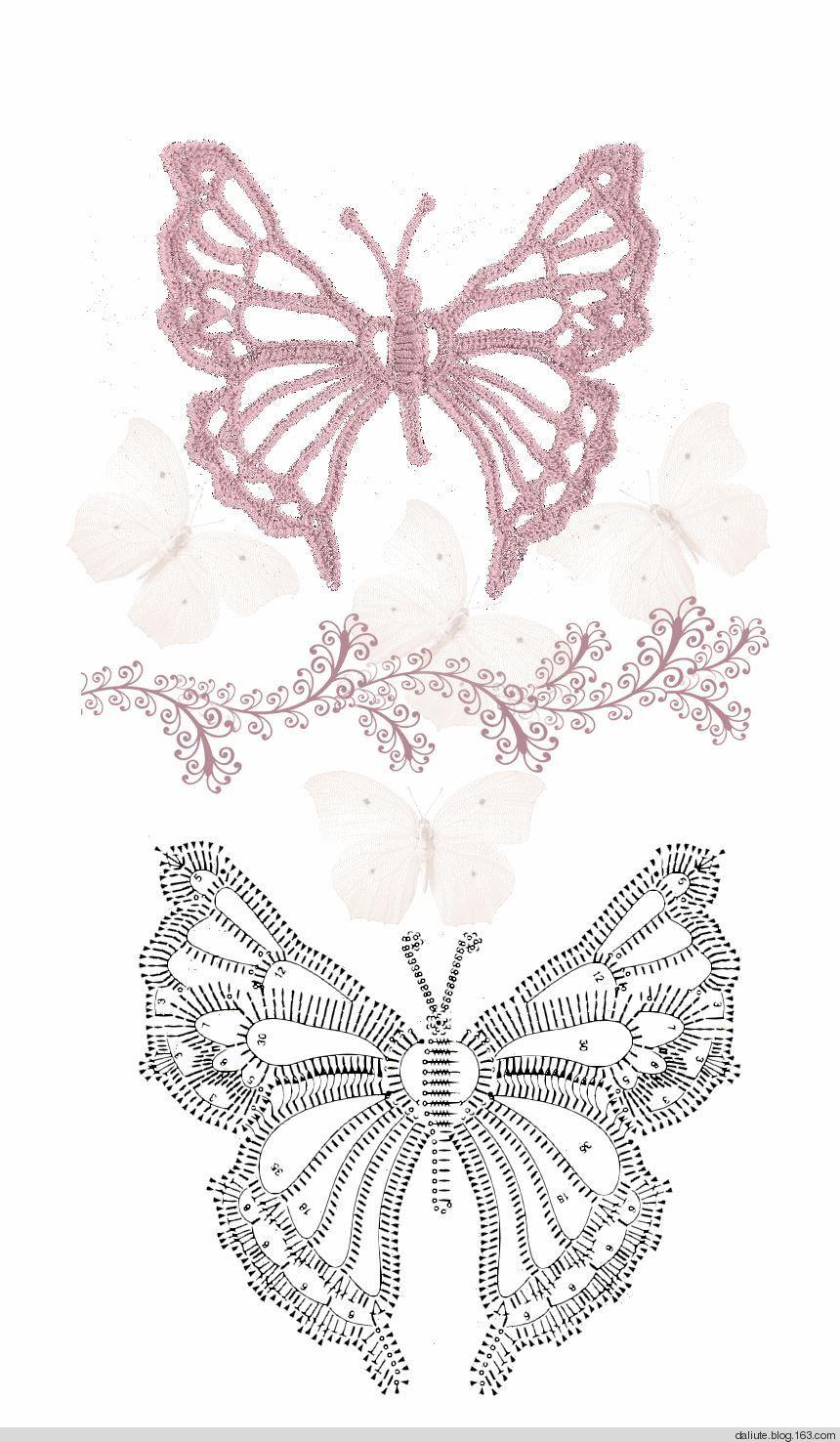 mariposas!!!!! | bolero | Pinterest | Mariposas, Ganchillo y Tejido