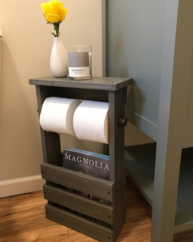 Toilet Paper Holder Free Standing Bathroom Magazine Rack Etsy Toilet Paper Holder Industrial Bathroom Toilet Paper Holders Rustic Toilet Paper Holders