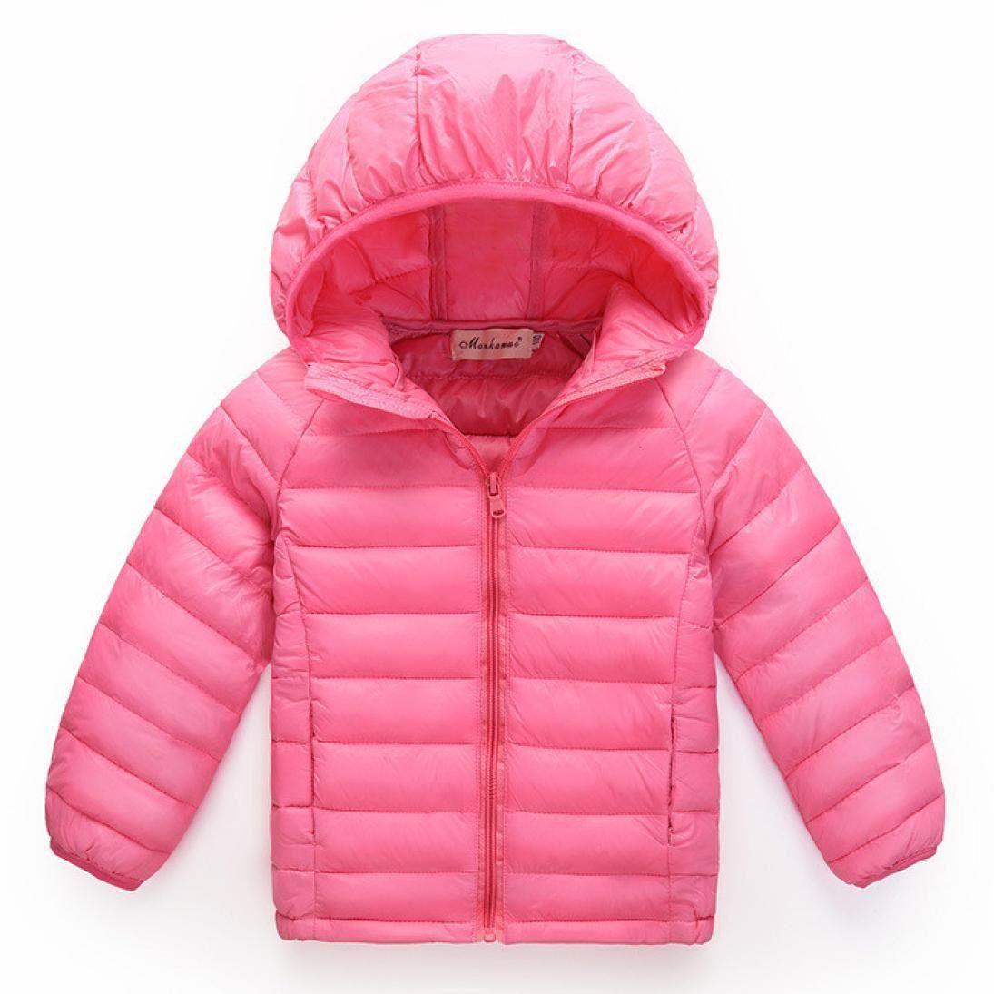 087d781df sleek 3ebd3 53b1c kids down puffer jacket parka girls coat hood ...