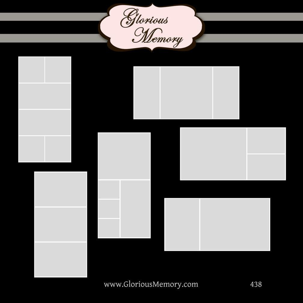 Storyboard Collage Blog Board Photoshop PSD Templates 20x10 ...