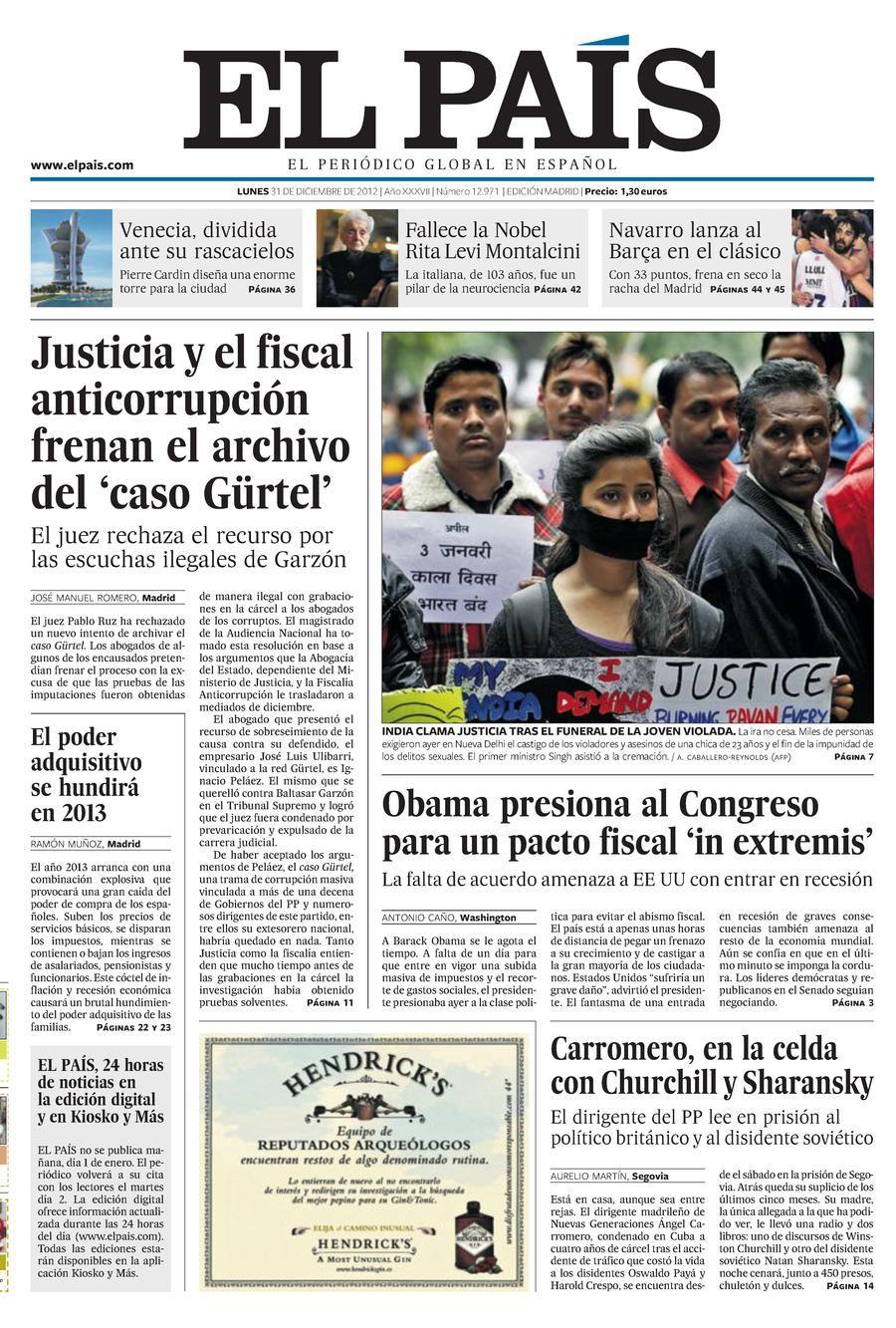 31 De Diciembre Aniversario El País Programa De Actividades Paises Diciembre