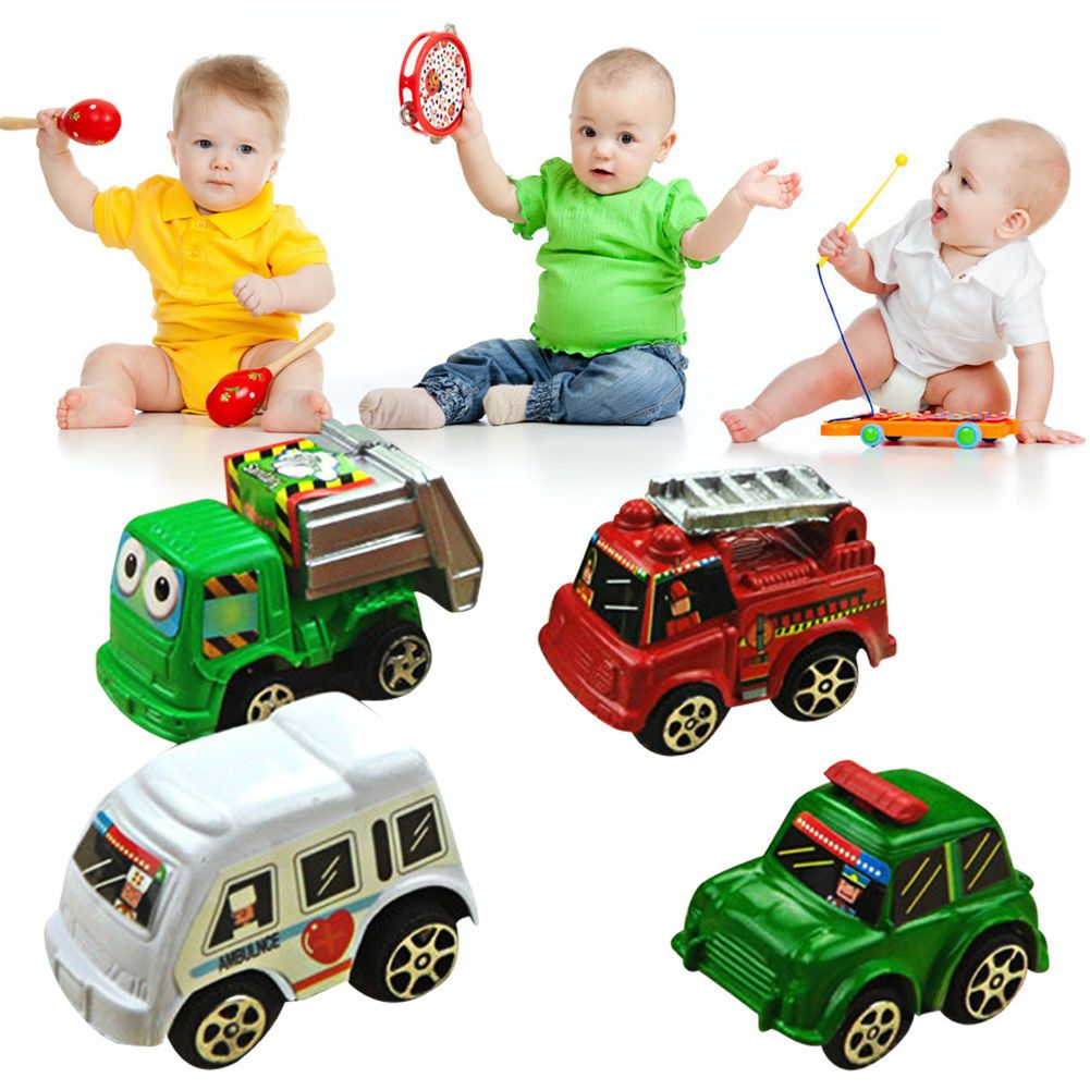 Car toys for toddlers  pcs Cute Pull Back Model Aolly Car Truck Vehicle Toys for Baby Kids
