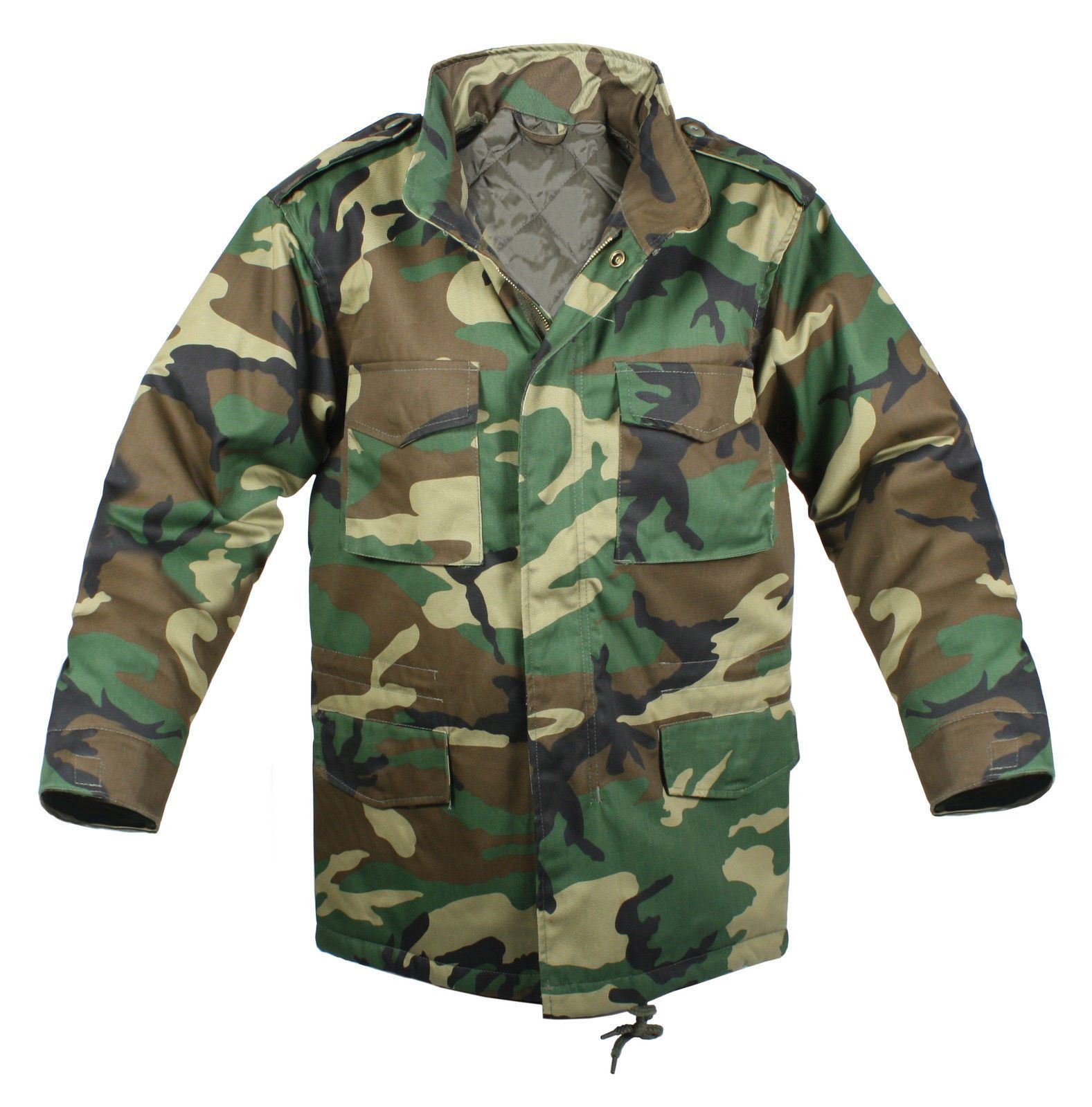 Kids M-65 Field Jacket - Boys Military Jackets - Black Or Wood Camo Winter  Coat 8ea8aac6489