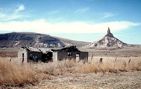 same sod house near Chimney Rock in Nebraska, 1977