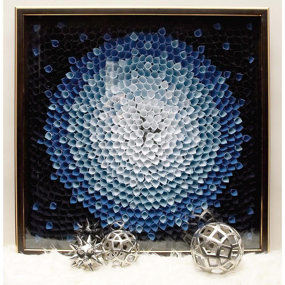 inx in modern blue starburst petal wall art multi