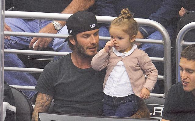 Harper Beckham is as adorable as ever during the Beckham family day out