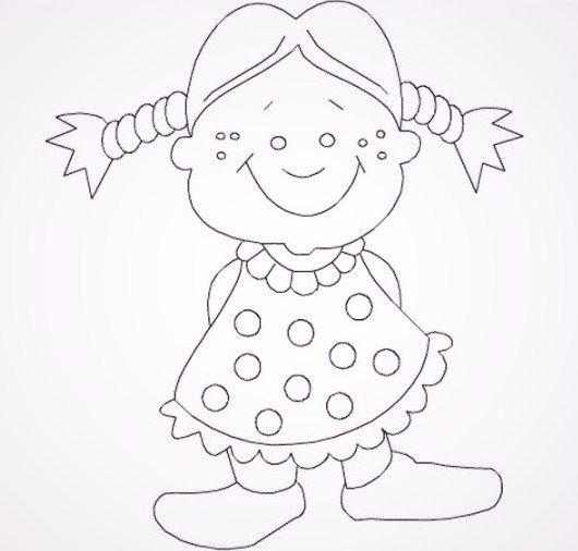 imágenes de muñecas bonitas para colorear   Cosas que ponerse ...