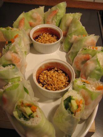Vietnamesiske forårsruller   mad
