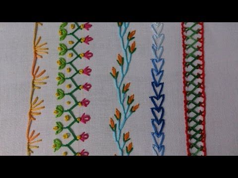 Hand Embroidery Stitches Tutorial For Beginners Youtube