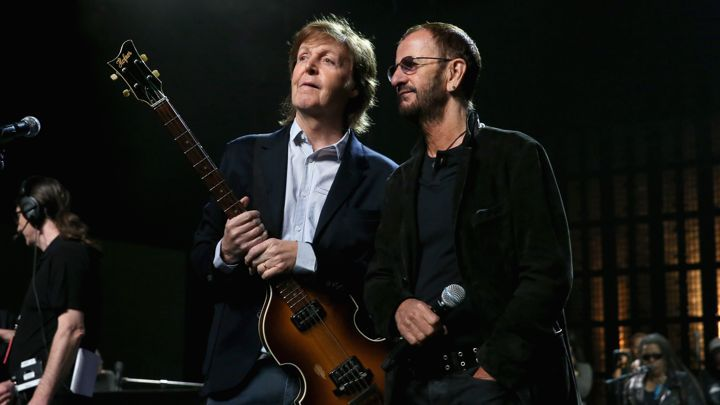 Paul McCartney L And Ringo Starr
