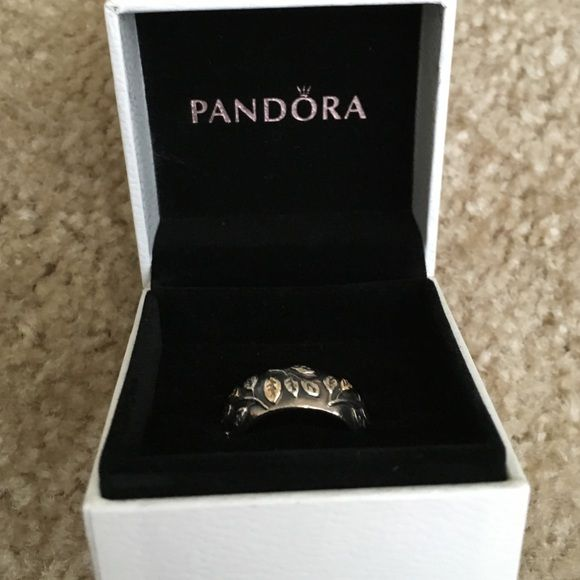 7a0b83c99 ... australia pandora ring so pretty silver and gold leaves ring by pandora.  pandora jewelry rings
