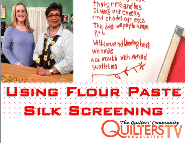 Creating Images and Text Using Flour Paste Silk Screening