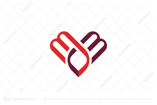 Letter Mm Logo Heart Logo Heart Logo Mm Logo Lettering