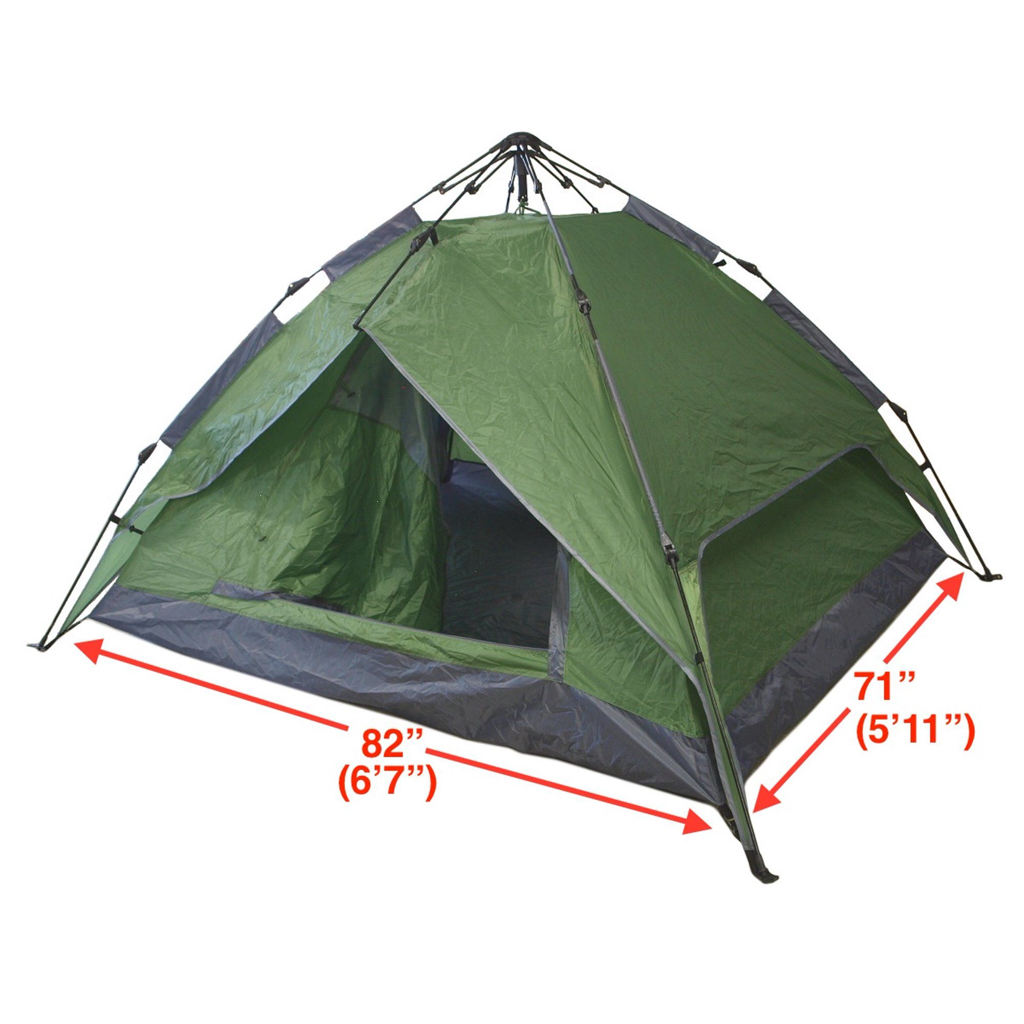4 Person Instant And Automatic Pop Up Camping Tent Walmart Com In 2021 Pop Up Camping Tent 4 Man Tent Instant Tent