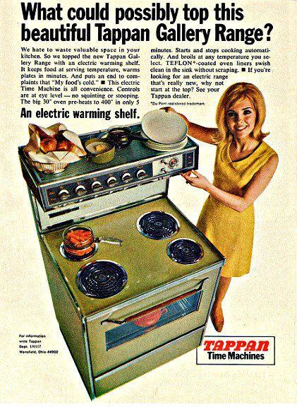 1967 Tappan Time Machine Oven Stove Advertisement Retro Chic Housewife Mod Mid Century Mad Men Paper Ephemera Kitchen Wall Art Home Decor Vintage Oven Vintage Appliances Vintage House