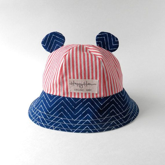 IMLECK Baby /& Toddler Stripe Reversible Bucket Hat with Chin Strap