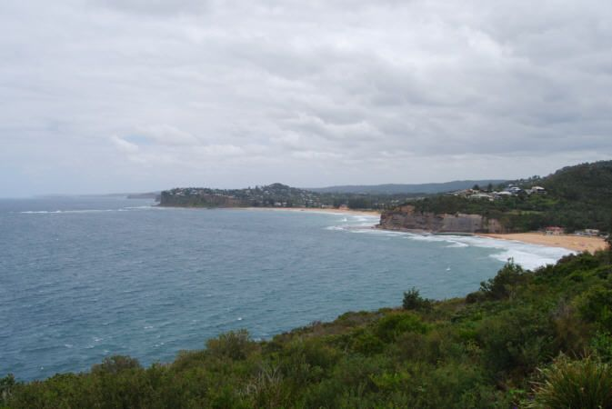 Beaches at Newport to the South and Bilgola Beach on the right.
