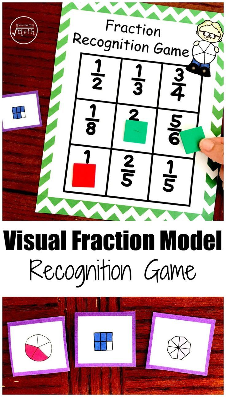 worksheet Visual Fractions one amazing visual fraction models game free printable printable