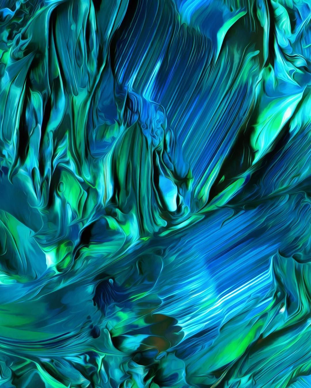"One of the pieces from ""Flow,"" a set of 100 fluid abstract"