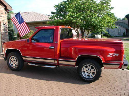 1997 Chevrolet K1500 Z71 Silverado Stepside Pickup Trucks Hot Rod Jeep Truck
